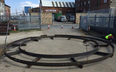 Dry run of curved Platforms for Cargills Hull plc.